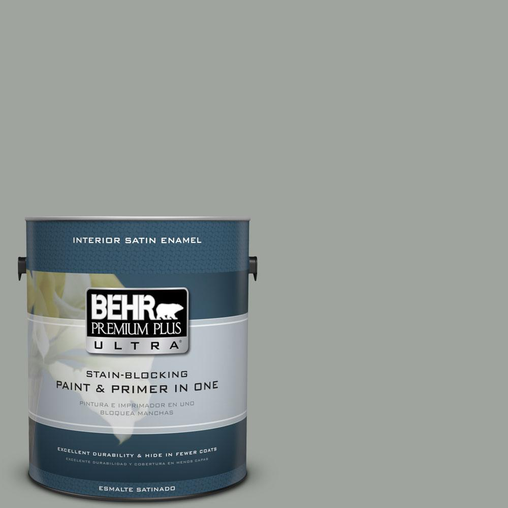 710f 4 Sage Gray Satin Enamel Interior Paint And Primer