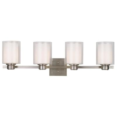 Oslo 4-Light Brushed Nickel Vanity Light