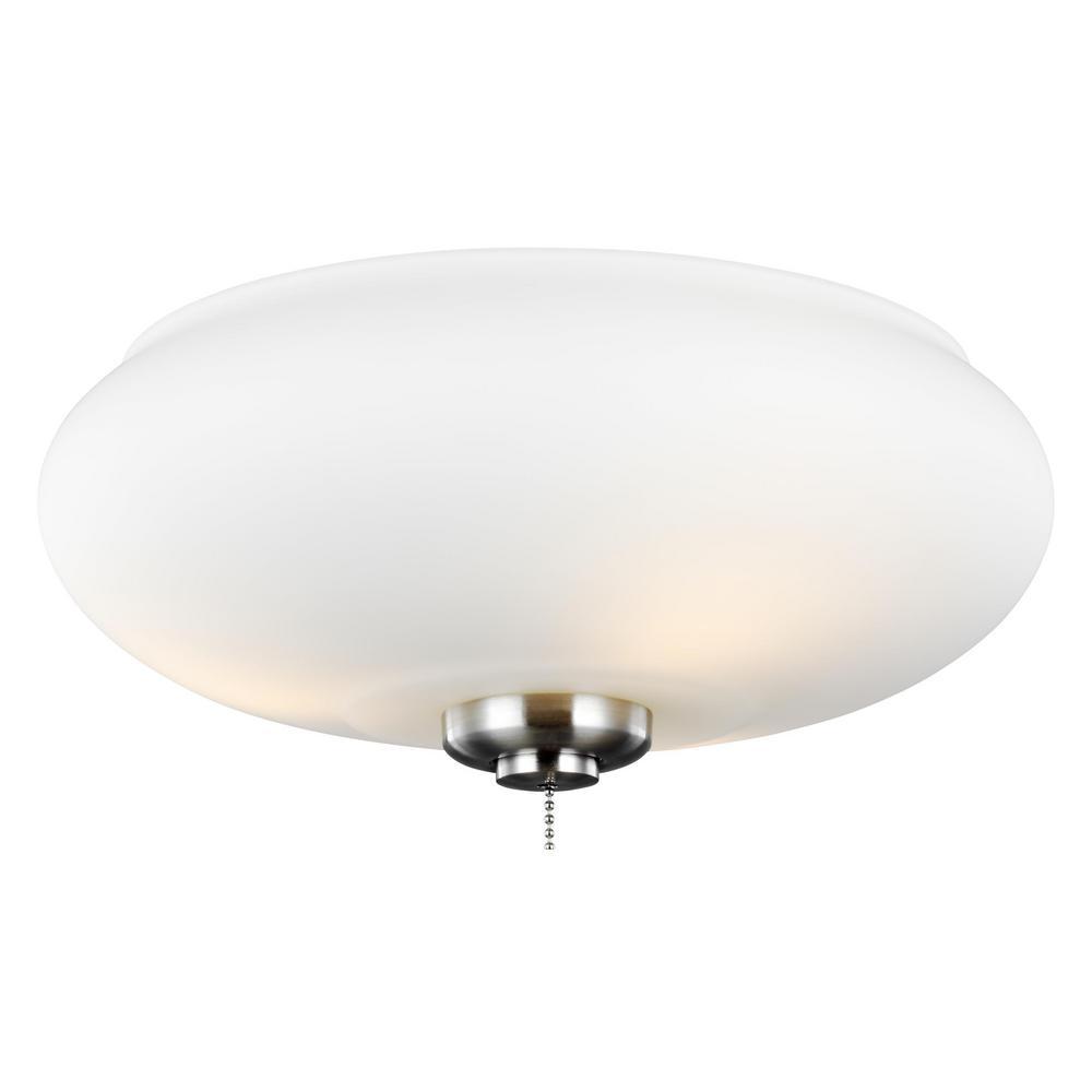 Monte Carlo 3-Light LED Ceiling Fan Light Kit - Monte Carlo 3-Light LED Ceiling Fan Light Kit-MC245BS - The Home Depot