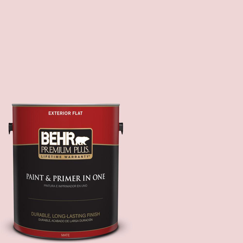 BEHR Premium Plus 1-gal. #S140-1 Radiant Rose Flat Exterior Paint
