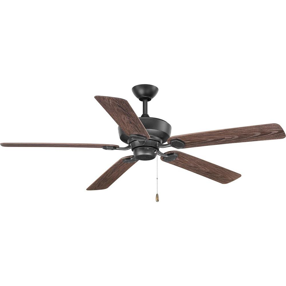 Progress Lighting Lakehurst 60 in. Indoor/Outdoor Forged Black Ceiling Fan