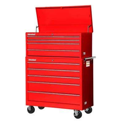 Workshop 42 in. 9-Drawer Tool Set, Red