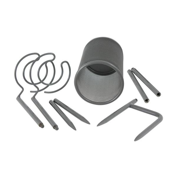 7df666dd147 Oenophilia Picnic Stake Set, Bottle and 2-Stems 103201 - The Home Depot