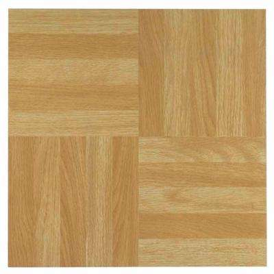 Nexus Light Oak 12 in. x 12 in. Peel and Stick Four Finger Parquet Vinyl Tile (20 sq. ft./case)