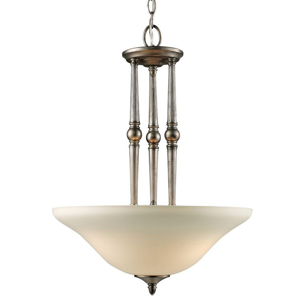 Tulen Lawrence 3 Light Ceiling Antique Silver Incandescent Pendant-DISCONTINUED