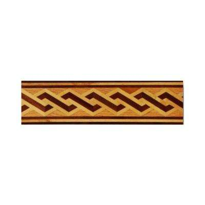 Helix Design 3/4 in. Thick x 6 in. Wide x 48 in. Length Hardwood Flooring Unfinished Decorative Border