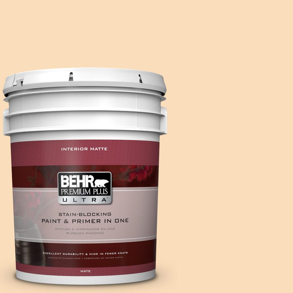 BEHR Premium Plus Ultra 5 gal. #M260-3 Time Out Matte Interior Paint and Primer in One