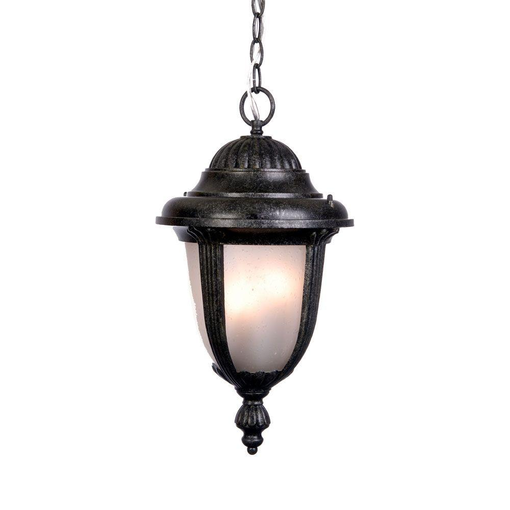 Acclaim Lighting Monterey Collection Hanging Lantern 1-Light Outdoor Stone Light Fixture