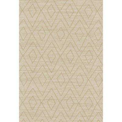 Zahra Collection Ivory 3 ft. x 5 ft. Area Rug