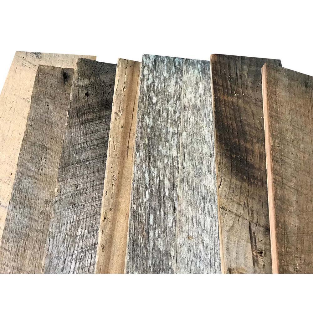 Multi width multi color kiln dried barnwood kit 10 2 sq ft genuine reclaimed barn wood