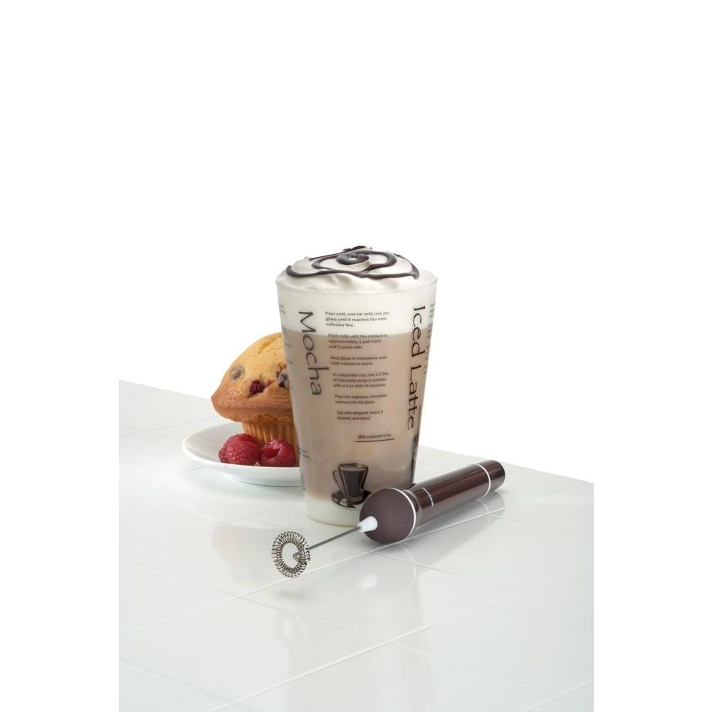 BonJour Barista Mixer 16 oz. Frothing Cup with Mini Frother-DISCONTINUED
