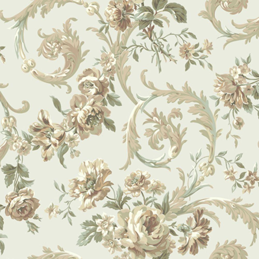 York Wallcoverings Rococco Floral Wallpaper
