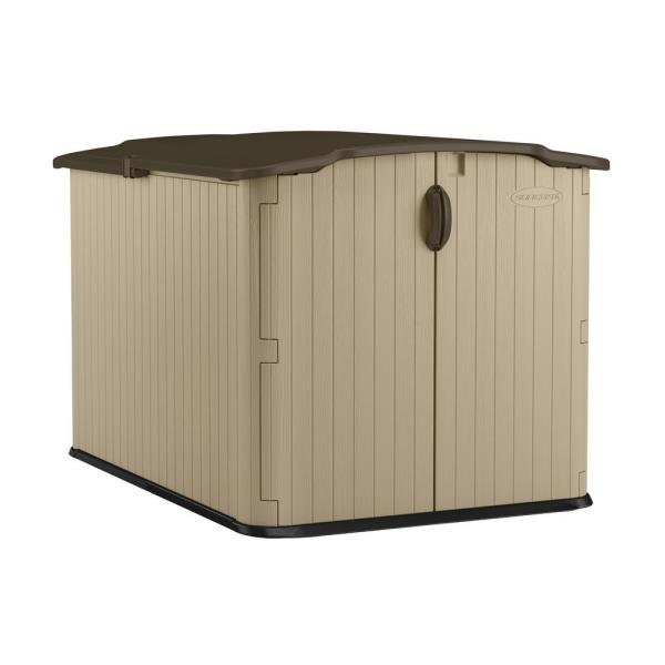 Glidetop 6 ft. 8 in. x 4 ft. 10 in. Resin Storage Shed