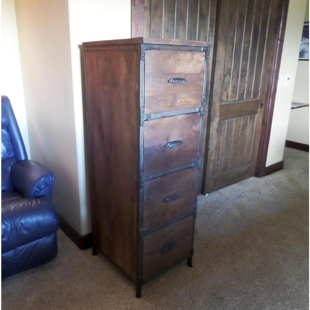 Decor Cabinets Hardware: Y Decor Lafayette Medium Brown File Cabinet-B827