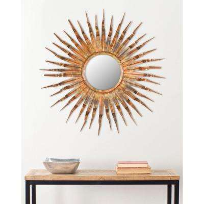 Bronzecopper metallic mirrors wall decor the home depot iron and glass framed mirror gumiabroncs Choice Image