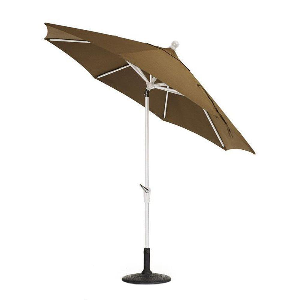 Home Decorators Collection Sunbrella 7-1/2 ft. Auto-Tilt Patio Umbrella in Teak