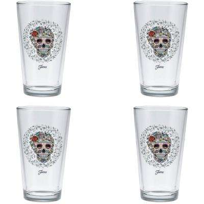 16 oz. Skull and Vine Sugar Clear Cooler (Set of 4)