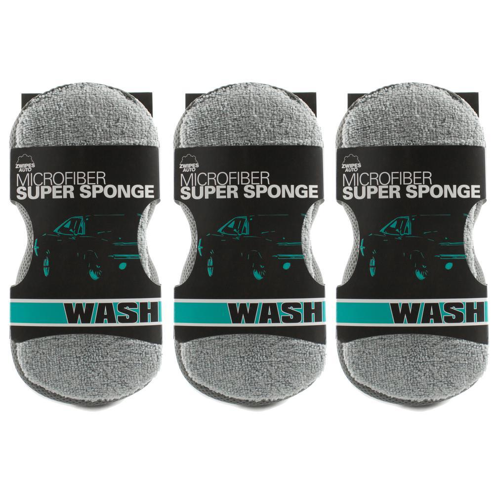 Zwipes auto xl super sponge 3 pack
