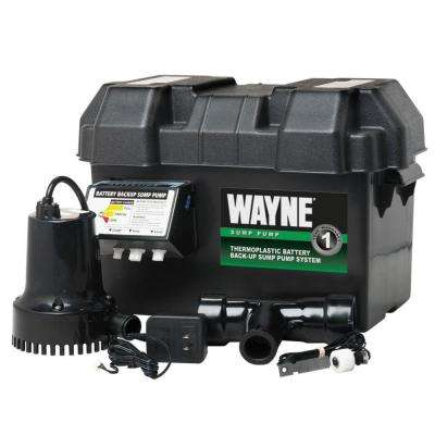 1/4 HP - 12-Volt Battery Backup Sump Pump System