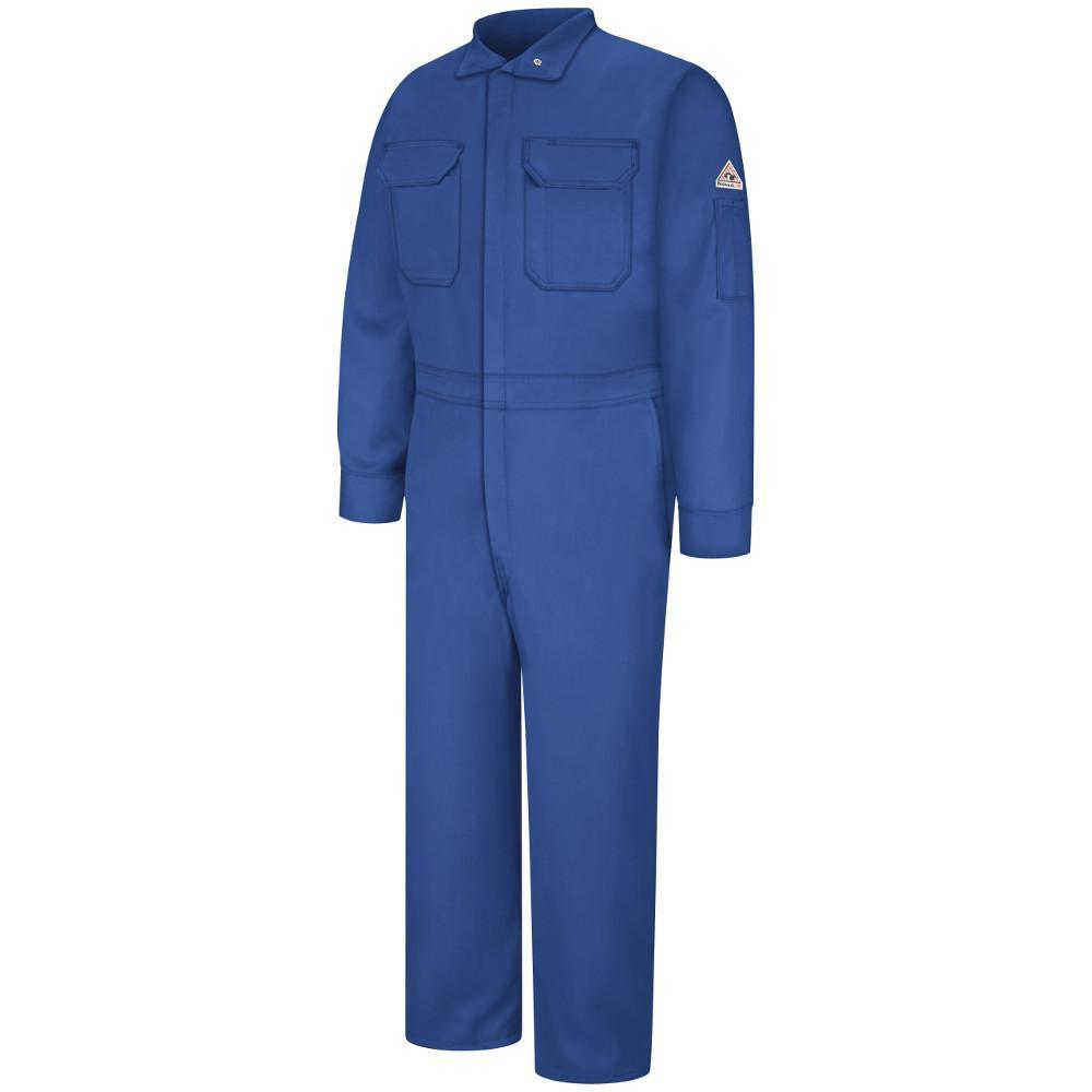 Bulwark Nomex Iiia Men's Size 38 Royal Blue Premium Coverall