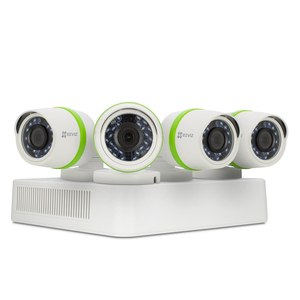 EZVIZ 8-Channel 1080 TVL 1TB HDD Security Surveillance Wired Camera Systems 100 ft. Night Vision Works with Alexa Using IFTTT