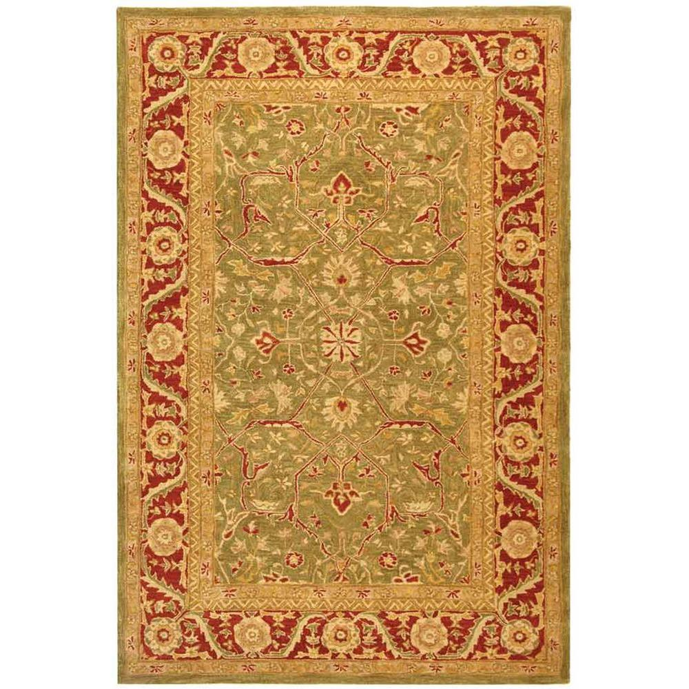Pasargad Khotan Persian Wool Area Rug 8 X10: Safavieh Anatolia Green/Red 8 Ft. X 10 Ft. Area Rug-AN523A