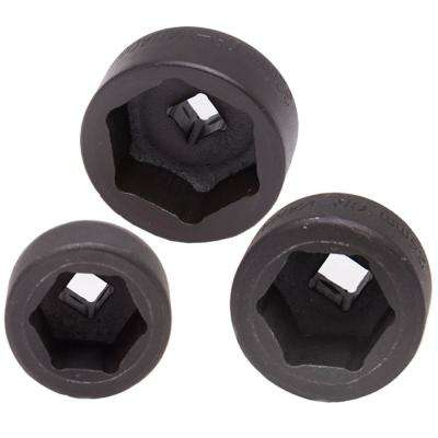 Forged Steel Low Profile Universal Oil Filter Sockets (3-Piece)