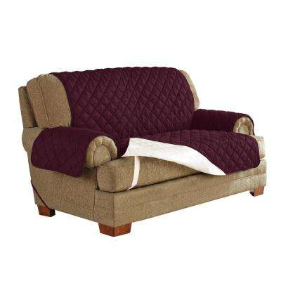 Plum Ultimate Waterproof Furniture Protector Treated with NeverWet Loveseat