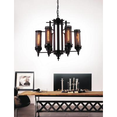 Vivian 6-Light Rust Chandelier