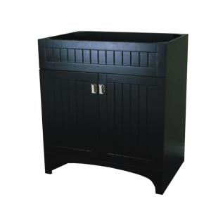 30 in. W x 21.6 in. D x 33.5 in. H Bath Vanity Cabinet Only in Dark Gray