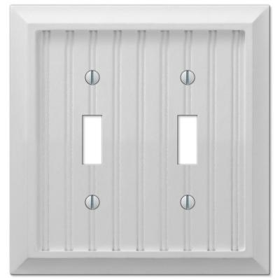 Cottage 2 Gang Toggle Composite Wall Plate - White