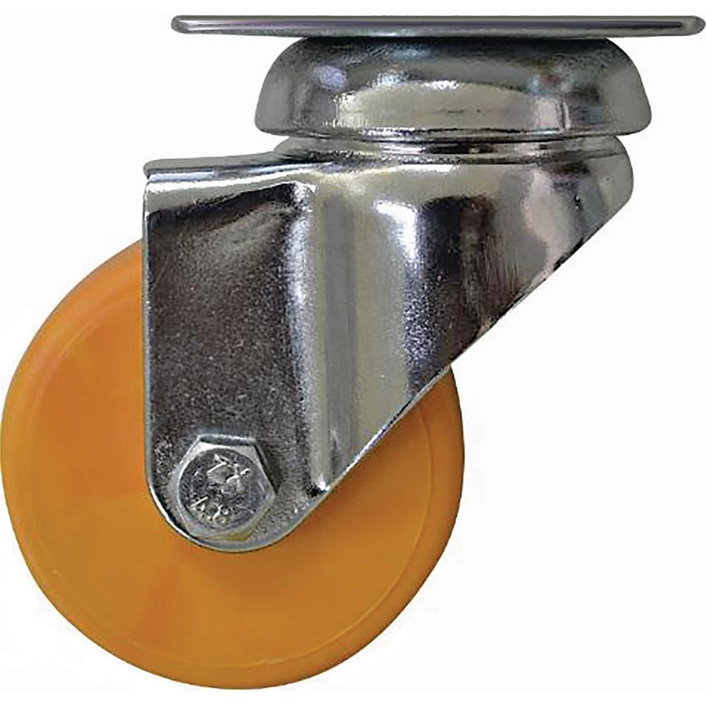 2 in. Honey Yellow Swivel Caster with 88 lbs. Load Capacity