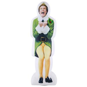 Deals on Warner 6-ft Pre-lit Inflatable Excited Buddy the Elf-Airblown-WB