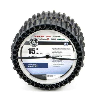 15 in. Airless Snow Thrower Tire Set