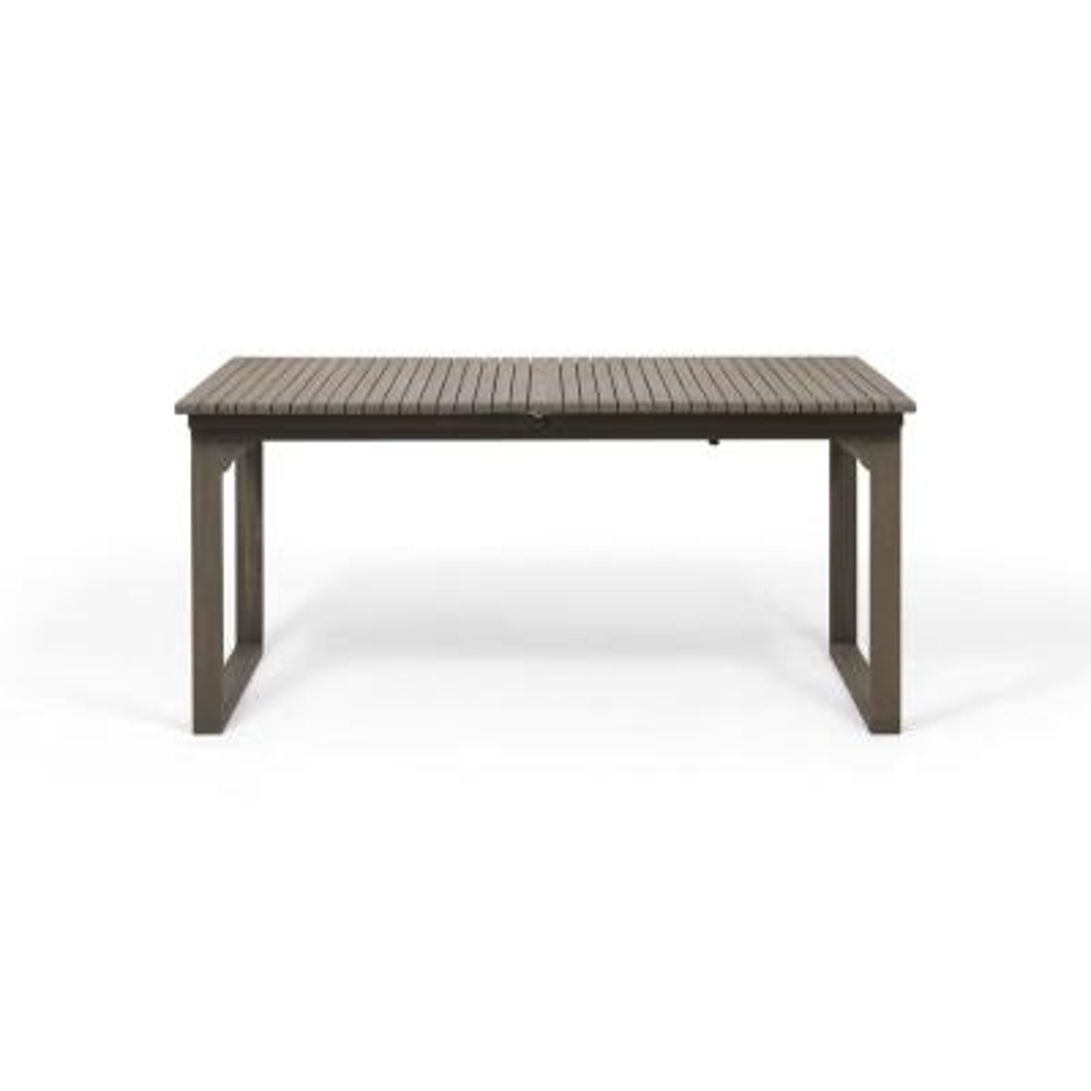 Sorrento Grey Rectangular Expandable Acacia Wood Outdoor Dining Table