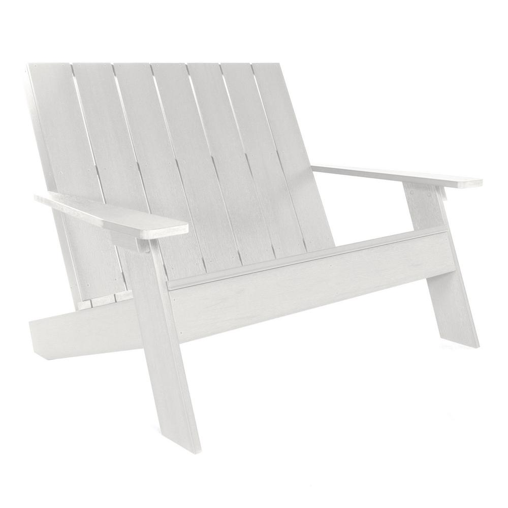 Astounding Highwood Barcelona Double Wide Modern White Plastic Adirondack Chair Bralicious Painted Fabric Chair Ideas Braliciousco