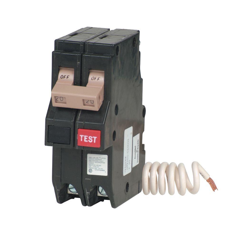 null 20 Amp 2-Pole CH-Type GFCI Circuit Breaker