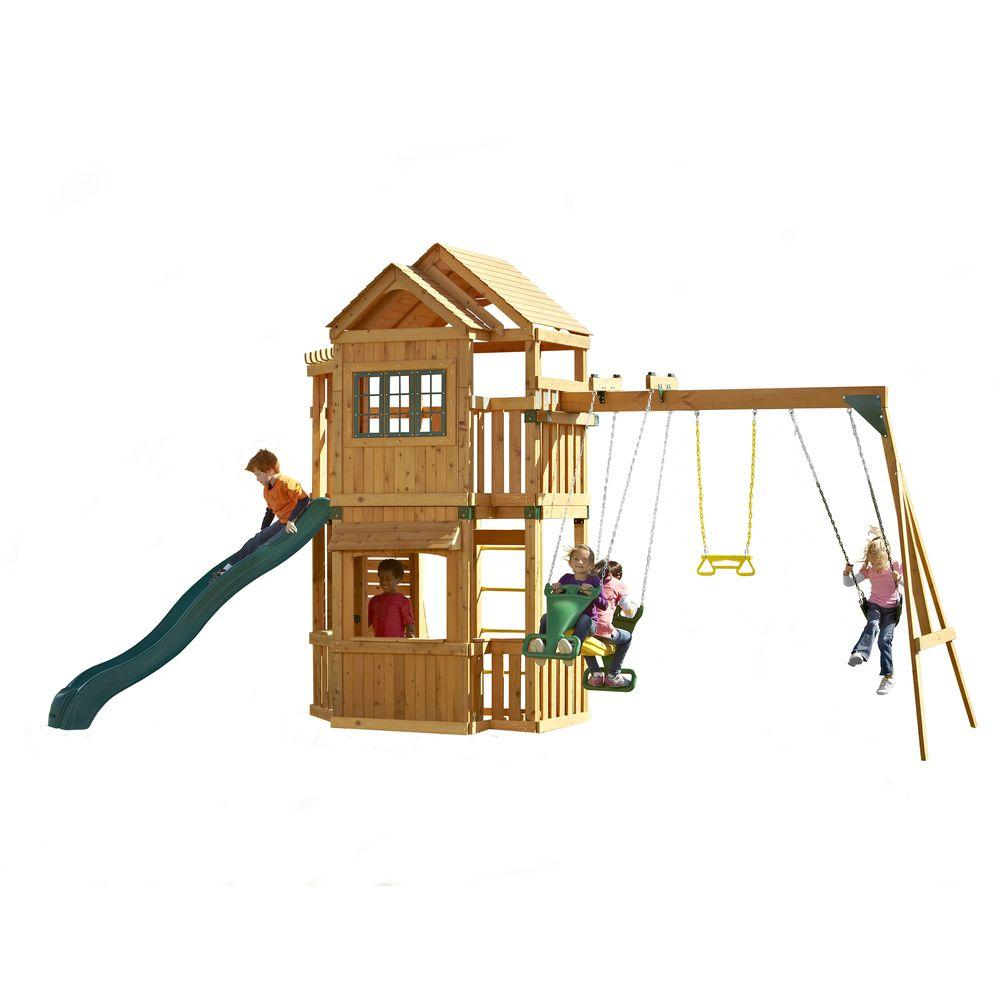 Swing-N-Slide Playsets Mountain Hollow Wood Complete Play Set