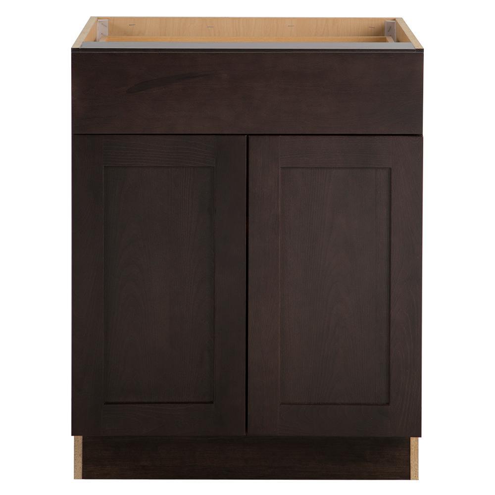 Cabinet Corp Dusk Kitchen: Hampton Bay Benton Assembled 27x24.5x34.5 In. Base Cabinet