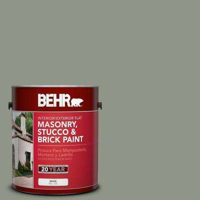 1-gal. #MS-59 Casting Shadow Flat Interior/Exterior Masonry, Stucco and Brick Paint