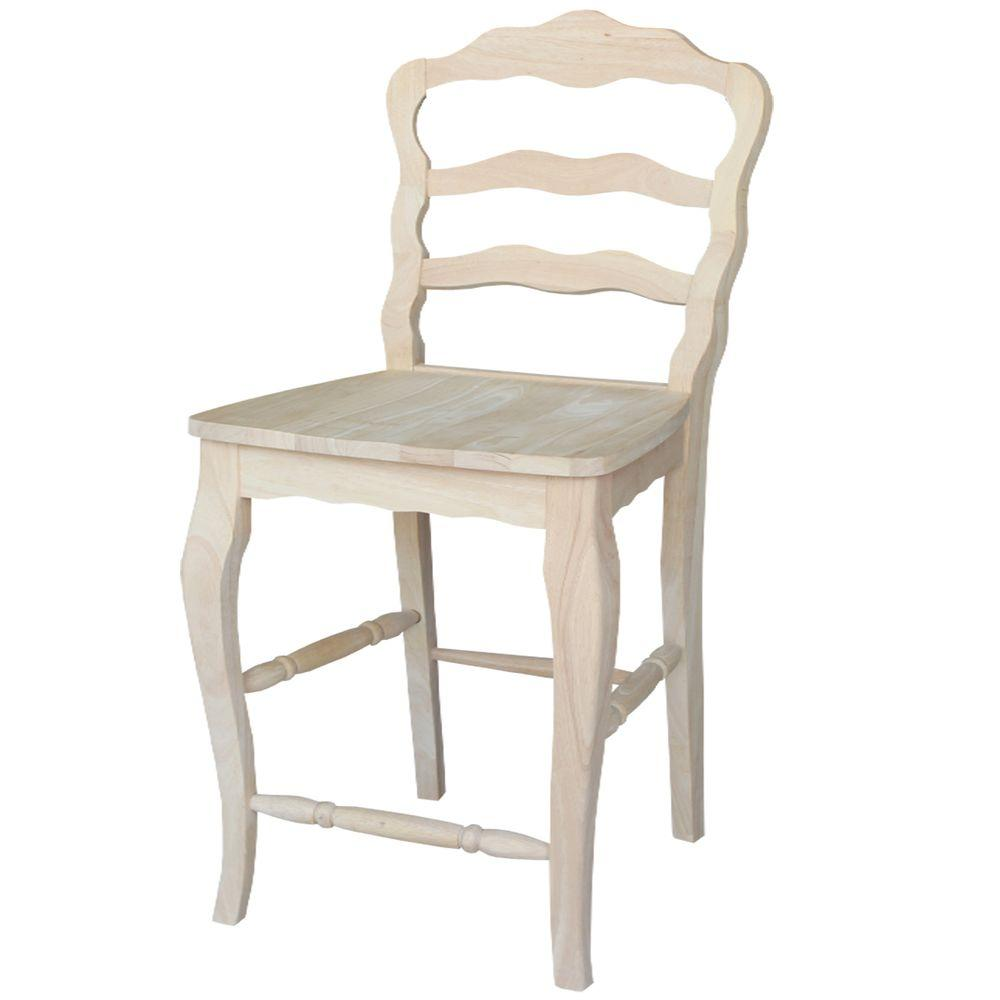 International Concepts Versailles 24 in Unfinished Wood  : unfinished international concepts bar stools s 9202 641000 from www.homedepot.com size 1000 x 1000 jpeg 36kB