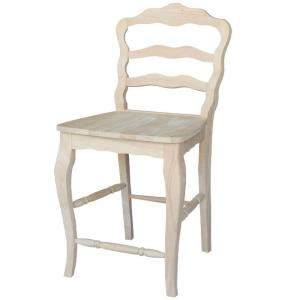 Versailles 24 in. Unfinished Wood Bar Stool