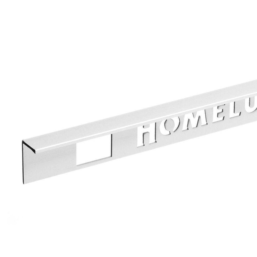 Homelux 1/2 in. x 8 ft. Aluminum Straight-Edge Transition Trim