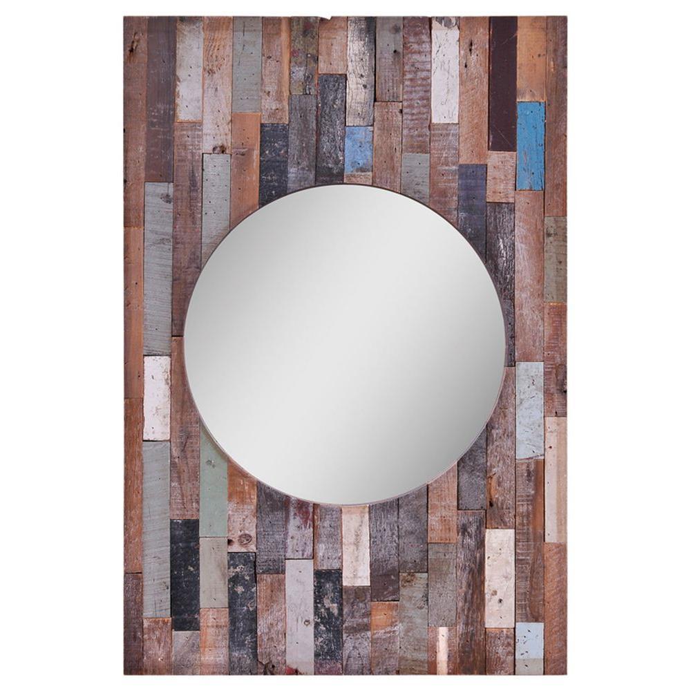 Ren-Wil Luna 36 in. x 26 in. Multi-Colored Mirror