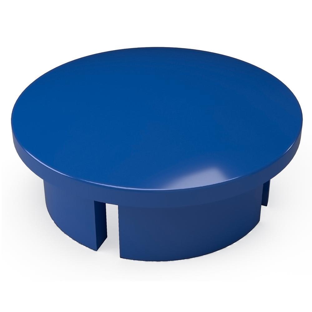1-1/4 in. Furniture Grade PVC Internal Dome Cap in Blue (10-Pack)