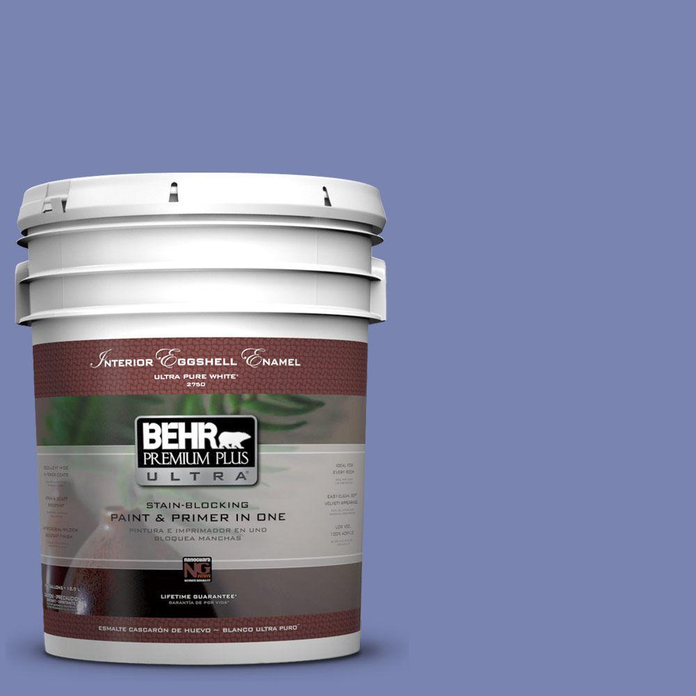 BEHR Premium Plus Ultra 5-gal. #610B-5 Corsican Purple Eggshell Enamel Interior Paint