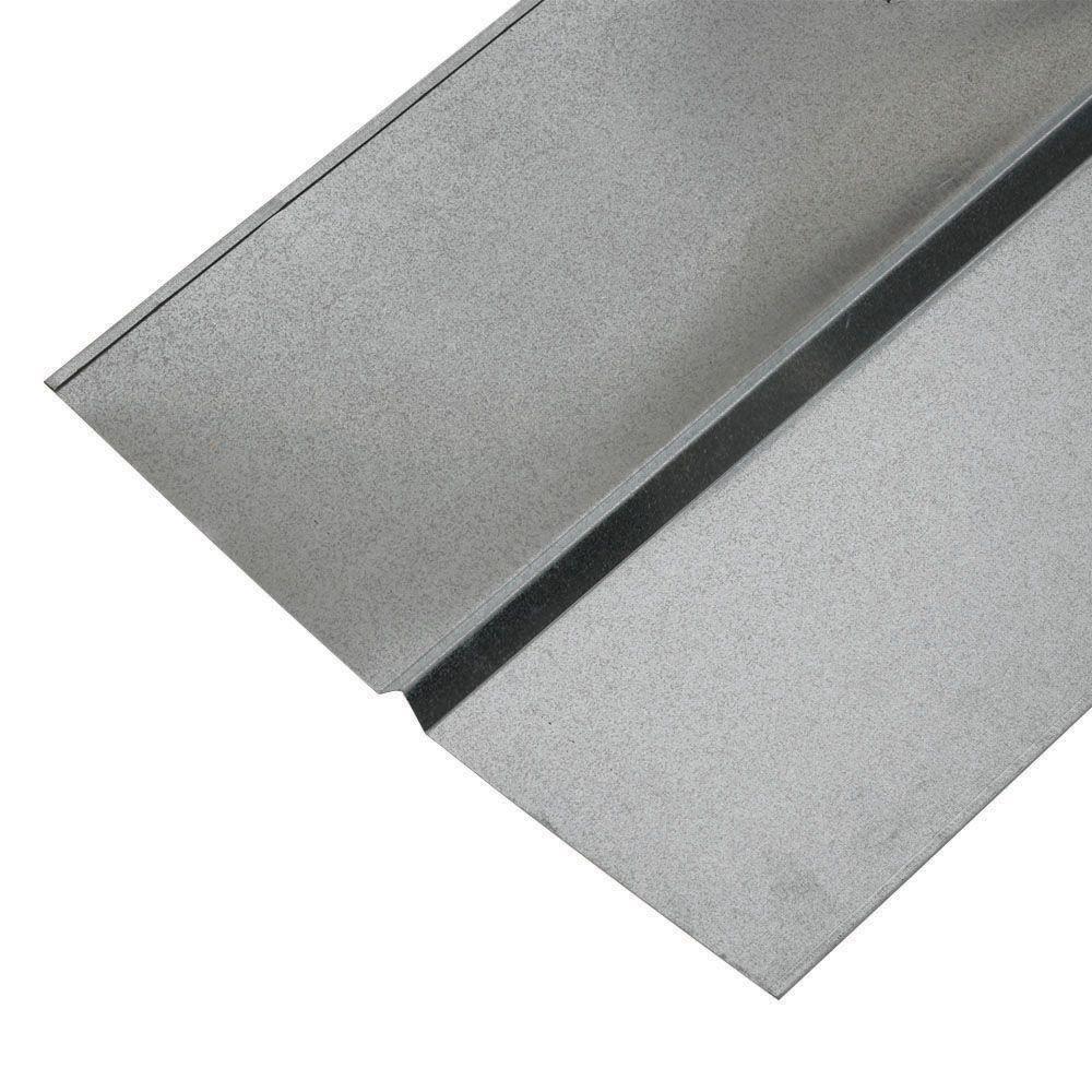 18 in. x 10 ft. Galvanized Steel W Valley Flashing