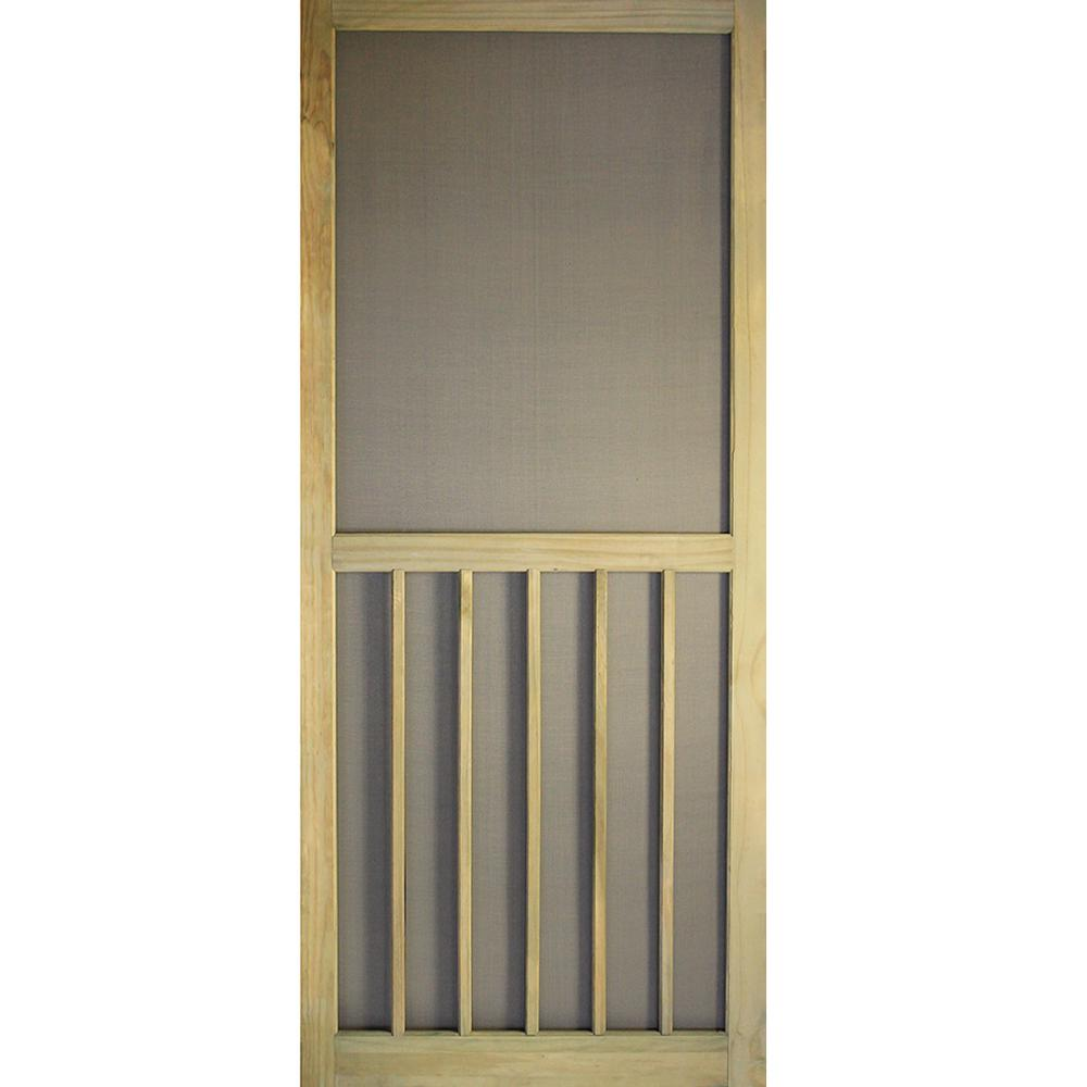 5bar premium stainable screen door