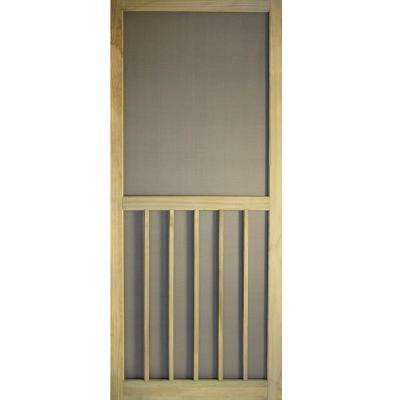 36 in. x 80 in. 5-Bar Premium Stainable Screen Door