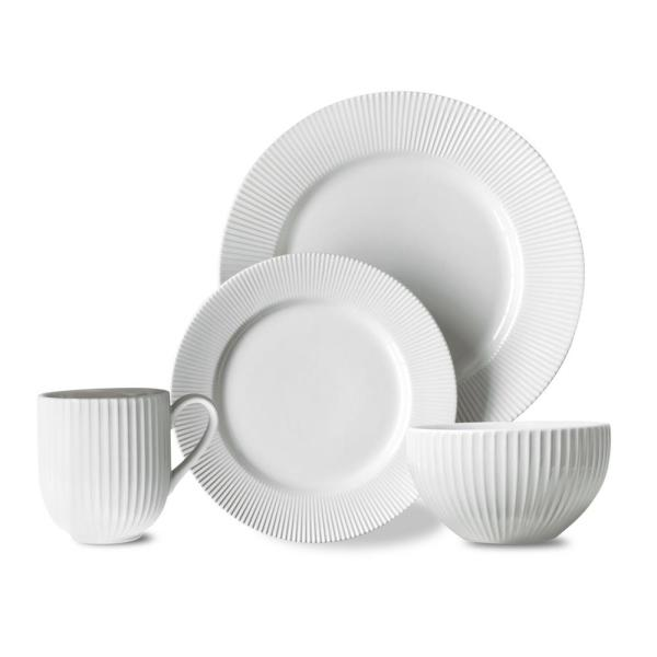 Over and Back Chester 16-Piece White Chester Dinnerware Set